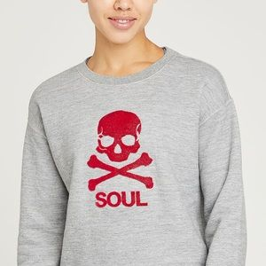 NEW SoulCycle Flock Skull Crew Neck Sweater XS